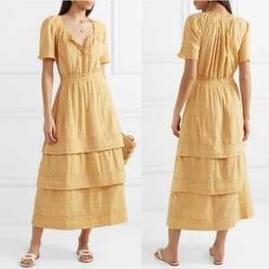 LoveShackFancy Heather Tiered Embroidered Dress